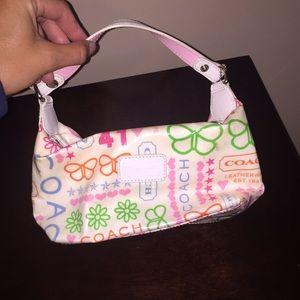 Small multi colored coach purse!